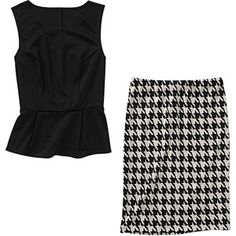 Alexis Taylor Women's Peplum Top and Ponte Skirt.......a maybe