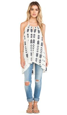 Free People Peace and Arrow Tunic in Oatmeal Combo | REVOLVE