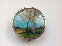 Art Deco Coty Butterfly Wing Powder Compact