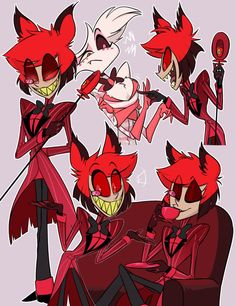 ~Alastor x Angel Dust~ i ship these two guys so much that i spent th… Fanfiction Hazbin Hotel Angel Dust, Alastor Hazbin Hotel, Vivziepop Hazbin Hotel, Cartoon Games, Star Vs The Forces Of Evil, Art Drawings, Anime Art, Character Design, Fan Art