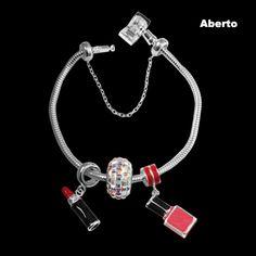 Pulseira para Berloque de Prata Memories com Fecho de Seguranca. #acessoriosdeprata #prata #fashion #berloque #pulseira #dicas #acessorios