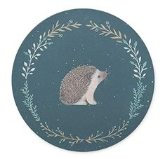 TuMeimei Non-Slip Rubber Round Mouse Pad, Cute little hedgehog Design Round mouse pad (7.87 inch x 7.87 inch)