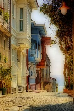 A pretty street in Arnavutköy, a historic neighbourhood in Istanbul, Turkey photo by Sadullah Hazar What A Wonderful World, Wonderful Places, Beautiful World, Beautiful Places, Places Around The World, Travel Around The World, Around The Worlds, Places To Travel, Places To See