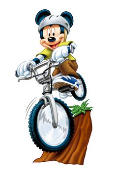 Mickey Mouse on the bicycle Walt Disney Character Disney Mickey Mouse, Mickey Mouse E Amigos, Mickey Mouse Cartoon, Mickey Mouse And Friends, Disney Toys, Disney Cartoons, Cute Cartoon, Walt Disney Characters, Cartoon Characters