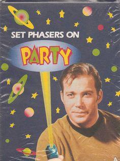 vintage Star Trek birthday party invitations