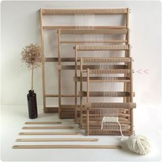 Weaving Loom S with heddle bar and rotating warp by funemstudio