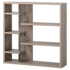 Homestar Wide 6-Shelf Hollow Core Bookcase