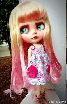 Rose OOAK Custom Blythe Doll by Sweet Crate Dolls by SweetCrate