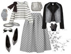 Combinations that reflect the autumn spirit - Polka Dot Skirt ! Informations About Sonbahar Ruhunu Yansıtan Kombinler Pin You can easily use my - Hijab Outfit, Outfit Chic, Outfit Jeans, Muslim Fashion, Modest Fashion, Hijab Fashion, Fashion Outfits, Fashion Trends, Style Outfits