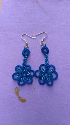 Tatted earrings made