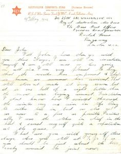 A letter describing life for a soldier in London, 1942. This letter was sent during WWII by Bob Williamson, who was still serving overseas. He describes his relief in the arrival of summer and his many activities in London. #Letter