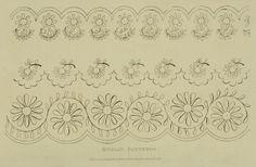 Needlework pattern. Ackermann Dec 1827