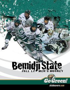 Bemidji State men's hockey 2011-12 media guide cover.