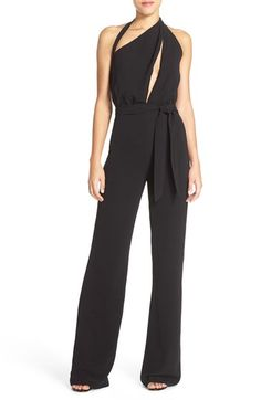 Misha Collection 'Caprice' Cutout Halter Jumpsuit available at #Nordstrom