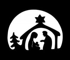 Resultado de imagen de siluetas navideñas gratis Clay Christmas Decorations, Christmas Stencils, Christmas Nativity Scene, Christmas Card Crafts, Christmas Makes, Christmas Printables, Xmas, Christmas Ornaments, Nativity Silhouette