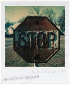 Walker Evans, Untitled, 1974, color Polaroid photograph