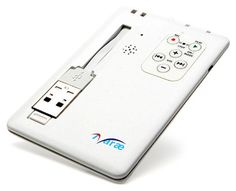 Credit card sized digital voice recorder