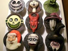 The Nightmare Before Christmas Cupcakes