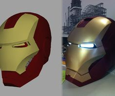 3D Printing an Ironman Helmet with files