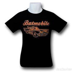 Images of Batman 60s Batmobile and Logo T-Shirt