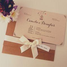 Convite de Casamento Rustico Gaiola