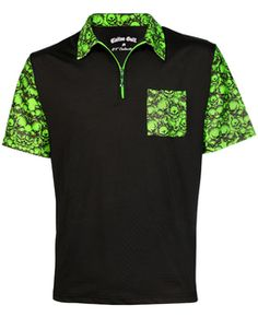 Outfit you entire team in this crazy golf shirt - also available in black/pink. Golf Outfit, Shirt Outfit, Crazy Golf, H Town, Golf Skirts, Mens Golf, Shirt Designs, Polo Shirt, Golf Apparel