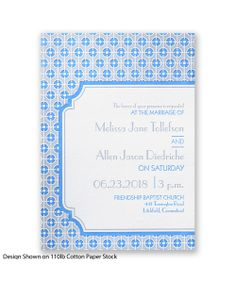 Modern Geometric Letterpress Wedding Invitation by David's Bridal.