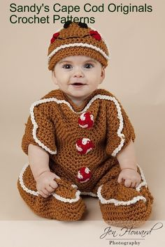 Gingerbread Bunting and Hat Set Crochet Pattern