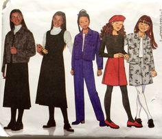 Butterick 6286 Girls' Jacket Jumper Skirt Pants Pattern by DonnaDesigned