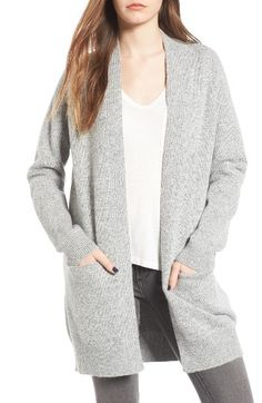 In Black: Free shipping and returns on Dreamers by Debut Open Cardigan at Nordstrom.com. On-trend and totally cozy, this long, open-front cardigan is destined to become a fast wardrobe favorite.
