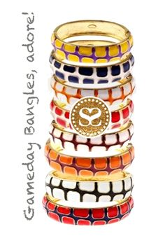 It's officially football season! Root on your favorite team with the #GameDay Gecko bangles in nine popular color combinations! #SwellCaroline #TeamSpirit