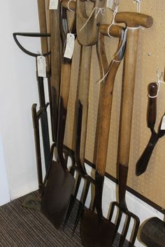 Vintage Garden Tools at The Guardroom at Hemswell