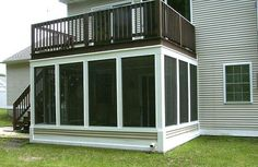 Screen porch under second story deck- we might end up doing this with ours to keep the bugs out