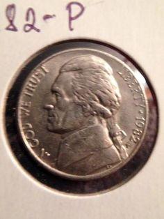 1982 P Jefferson Nickel