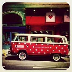 polka dot vw via lovely Becky - how  cool is this