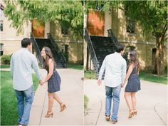 University of Notre Dame Engagement Session by Erika Delgado Photography