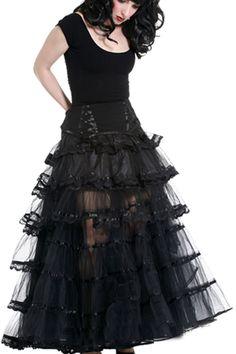 a62d6ff37ae4dc Kismet Black Drill & Tulle Mullet Skirt by Sinister Fishtail Skirt, Diy  Wardrobe, Mullets