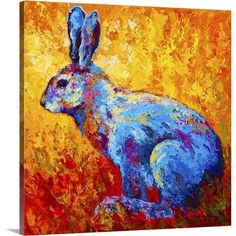 Great Big Canvas Jackrabbit by Marion Rose Painting Print on Wrapped Canvas Size: H x W x D, Format: Wrapped Canvas Jack Rabbit, Rabbit Art, Wild Rabbit, Painting Prints, Wall Art Prints, Canvas Prints, Framed Prints, Arte Naturalista, Artist Canvas