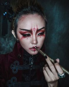 Orient Empress Vampire makeup mix with Chinese Tong Density elements with Antique pipe clothing@punkrave.official @urbandecaycosmetics Ring @alchemyengland #darkstyle #alternativegirl #gothicgirl #darkqueen #gothic #gothicmakeup  #stylish #gothfashion #goth #TagsForLikes #TFLers  #beautiful #instafashion #fashiongram #fashion  #photooftheday #모델 #モデル #写真 #사진 #like4likes  #hkig #iger #darkbeauty #gothdoll #orient #vampier #vamp #empress #femaledomination