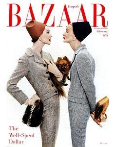 ダイアナ・ヴリーランドによる表紙。ハーパーズ バザー1955年2月号より。 COVER PHOTOGRAPH BY RICHARD AVEDON