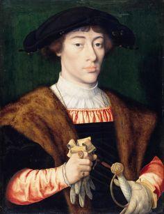 Joos van Cleve (1485-1540) - Portrait of a young man