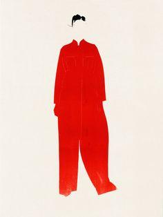 Experimental fashion illustration by Aurore de La Morinerie for Maison Margiela