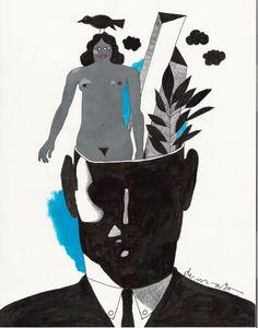 'Man with open head' Artist Louis DeMayo