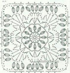Patterns and motifs: Crocheted motif no. Crochet Wool, Crochet Art, Filet Crochet, Crochet Motif, Crochet Designs, Crochet Doilies, Crochet Flowers, Crochet Stitches, Crochet Patterns