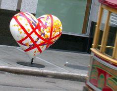 """Heart art"" we saw in San Fran."