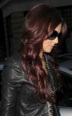 Dark Auburn - looks pretty if you have the right skin tone for this haircolor - looks really bad if you don't have :/,  Go To www.likegossip.com to get more Gossip News!