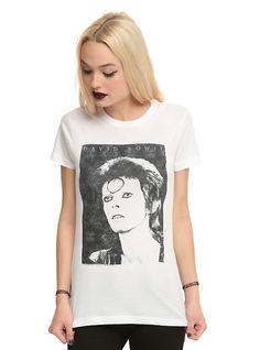David Bowie Ziggy Stardust Girls T-Shirt, WHITE