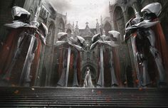 ArtStation - MILKY OVERLOAD ARTBOOK : The White Queen and Knights of Round, jarold Sng