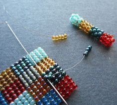 Inspirational Beading: Square Stitch Patchwork Cuff Tutorial