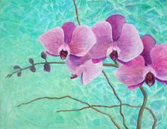 Orchids In Pink Painting  - Orchids In Pink Fine Art Print